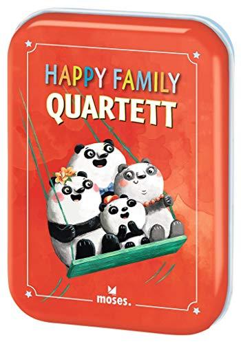 moses. Happy Family Quartett, Der Spieleklassiker für die ganze Familie, Kartenspiel für Kinder ab 4 Jahren