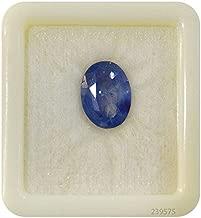 Getgemstones Loose Blue Sapphire Stones Loose Ceartified Natural Gemstone 2.8 Carat