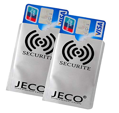 Lot de 2 - Protège Carte Anti-RFID/PAIEMENT sans Contact Carte...