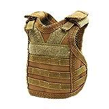 LHKJ Mini Beer Vest,Tactical Beer Vest Drink Cooler,Marrone
