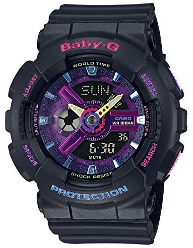 Casio Baby-G By Women's BA110TM-1A BA110 Series Analog-Digital Watch Black