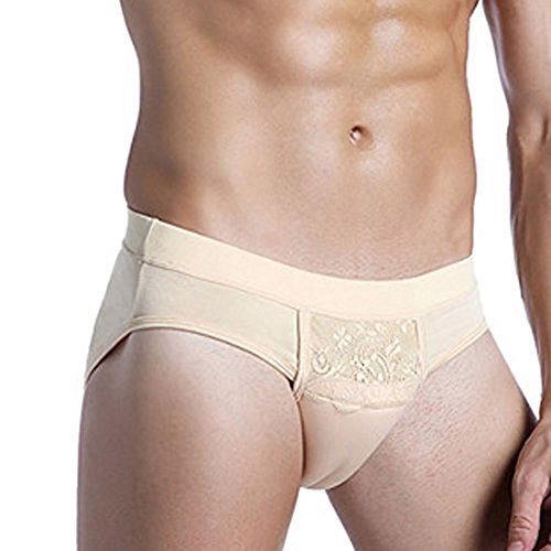 Beautylife88 #0113 Hiding Gaff Panty Shaping Pant for Crossdresser (Yellow,L)