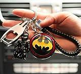 EIKOU スーパーヒーロー バッグチャーム スパイダーマン サノス バットマン アイアンマン スーパーマン キーホルダー マーベルヒーロー アクセサリー (バットマン)