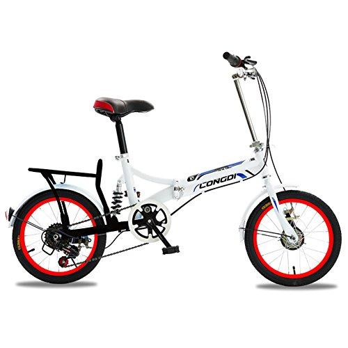 XQ 1615URE Bicicleta Plegable de 16 Pulgadas Adultos Bicicleta Plegable de 6...
