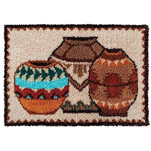 Kits de fabricación de alfombras,Kit de Bordado, Kit De Ganchos Cierre Alfombra Grande Nudo para Adultos Alfombra Nudos Patrones Hacerlo Usted Mismo Alfombra Sala Estar,B
