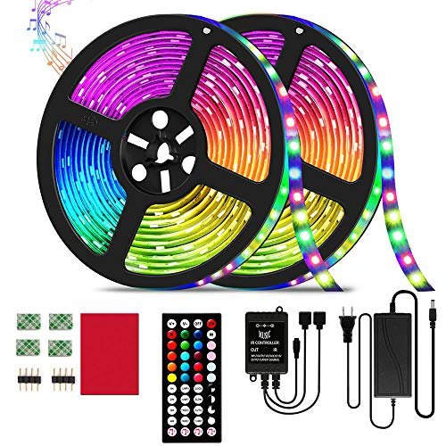 20-Color Music Sync LED Strip Lights