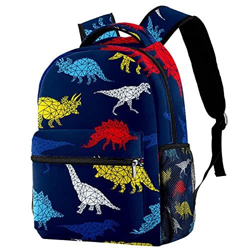 Mochila geométrica abstracta de fútbol para niños y niñas, mochila de lona