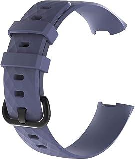 DALIN - Cinturino in silicone testurizzato per Fitbit Charge3 / 3SE / 4 / 4SE