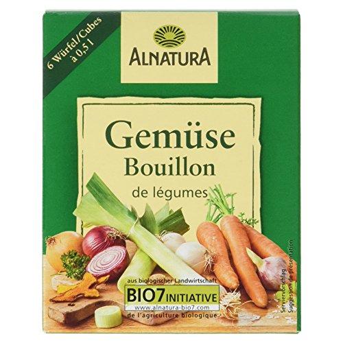 Alnatura Bio Gemüsebouillonwürfel, glutenfrei, vegan, 15er Pack (15 x 66 g)