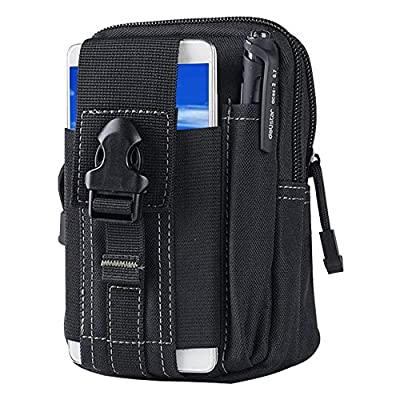 Tactical Waist Belt Bag   Universal Outdoor EDC Military Holster Wallet Pouch Phone Case Gadget Pocket for iPhone X 8 7 6 6s Plus Samsung Galaxy S8 S7 S6 S5 S4 S3 Note 8 5 4 3 2 LG HTC from SYIDINZN