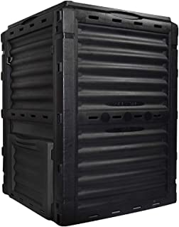 SQUEEZE master Garden Compost Bin Eco Composters Outdoor Recycling Soil Outdoor Waste Grass Composting Box(300 Litre Black)
