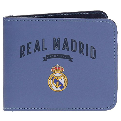 Real Madrid Strokes RM Billetero Morado 10,5x8,5x1 cms Piel Sintética