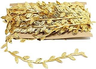 Gold Leaf Trim Ribbon, 33 Yard Artificial Vines for DIY Craft Party Wedding Home Decoration (Gold)