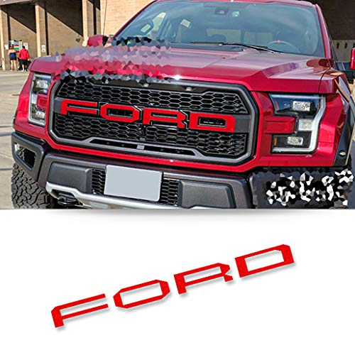 kmmotto Decorative F150 Decal Overlays Emblem Badge fit for Raptor F-150 F-250 2015-2020 Red