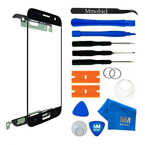 MMOBIEL Front Glas Reparatur Set kompatibel Samsung Galaxy S7 G930 Series (Schwarz) Display mit Werkzeug-Set
