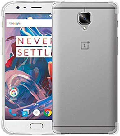 Tarkan Protective Soft Transparent Back Case Cover for OnePlus 3 & 3T