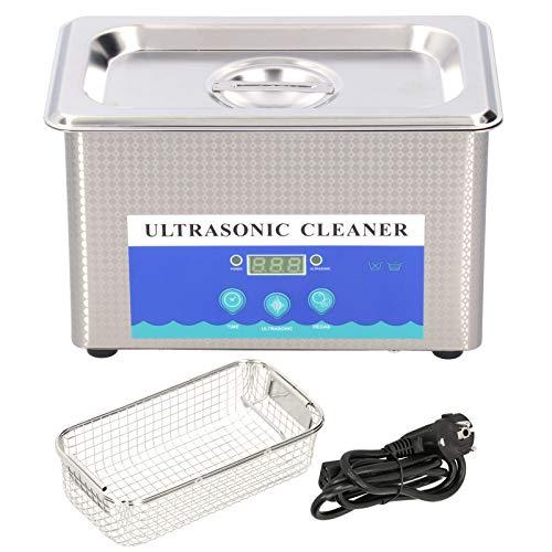 Lavadora con temporizador, limpieza ultrasónica de 0,9 l, lavadora ultrasónica de acero inoxidable con(AC220V European plug)