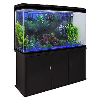 MonsterShop Aquarium Starter Komplettset Aquarium mit Unterschrank Aquaristik Kies Aquarium-Hintergrund