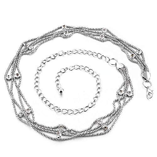 Trimming Shop Cinturón de cadena para mujer con estrás, para accesorios de...