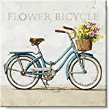 Sullivans Darren Gygi Flower Bicycle Canvas, Museum Quality Giclee Print, Gallery Wrapped, Handcrafted in The USA (5x5)