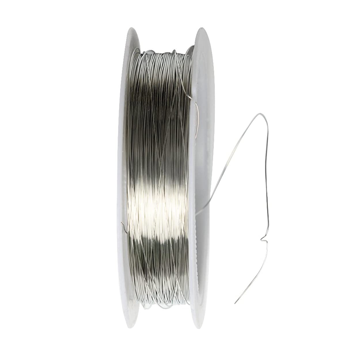 繰り返したカスケードトラフィック結婚式 ヘアジュエリー DIYジュエリー用具 1ロール 22m 鉄線 0.3mm ゴールド/シルバー 2色選べ - シルバー, 22m