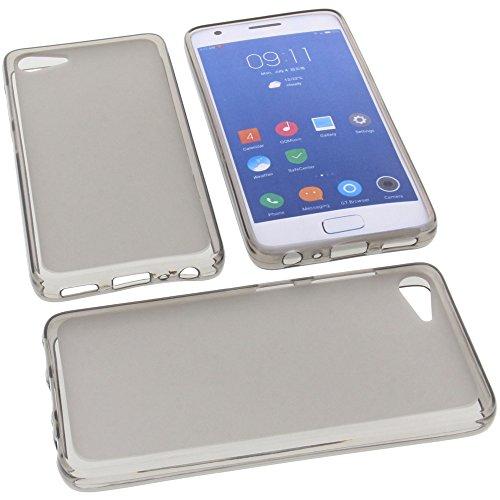 foto-kontor Tasche für ZUK Z2 Gummi TPU Schutz Handytasche grau