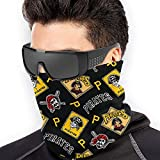 Pittsburgh P-irates Eamless Face Cover Mouth Cover Scarf Balaclava Bandanas Neck Gaiter Dust Uv Shielding for Outdoors Black