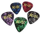 Acdc 5 X Loose Púas de guitarra Mixed Pearl (GHF)