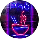 ADVPRO Pho Vietnam Noodle Night Eat Dual Color LED Neon Sign Red & Blue 12 x 16 Inches st6s34-i3619-rb
