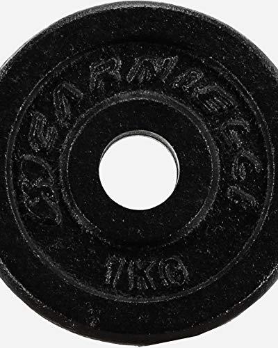 CARNIELLI Coppia di Dischi in ghisa, da 0,5 kg a 30 kg, Pesi 25 mm, in ghisa con Fori per bilancieri (GHISA, 10PZ X 2KG)
