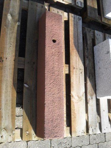 Brunnenstele aus Sandstein 100 cm hoch Brunnen Steintrog - Granittrog Sandsteintrog