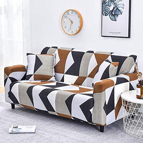 Funda de sofá con diseño de Hoja nórdica, Funda de sofá elástica de algodón, Fundas de sofá universales para Sala de Estar A5, 2 plazas