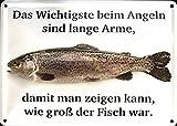 Angeln (Motiv von Strasse) 10x15 cm Blechkarte Blechschild PC302/201