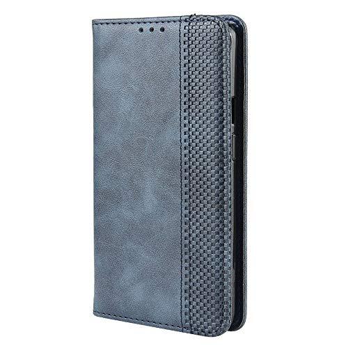 LAGUI Kompatible für Oppo Reno2 Z Hülle, Leder Flip Hülle Schutzhülle für Handy mit Kartenfach Stand & Magnet Funktion als Brieftasche, Blau