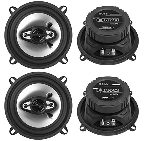 BOSS NX524 5.25' 600W 4-Way Car Audio Coaxial Speakers Stereo Black 4 Ohm
