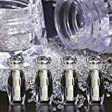 4 Bottle Micro Pixie Beads Gravel Nail Crystals For Nails Colorful Multicolor Micro Strass Glass Caviar Beads Nail Art 3D Decorations (4pcs crystal ab)