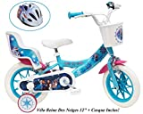 Disney / Frozen / Reine des Neige Bike 12 'Frozen Girl 2 FEINS Doll Holder AR + Casco per bambini, Multicolore