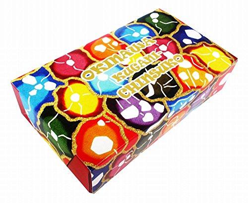 くがにちんすこう ミニ箱 10個入×10箱 くがに菓子本店 紅型調の華やかなパッケージ お土産に