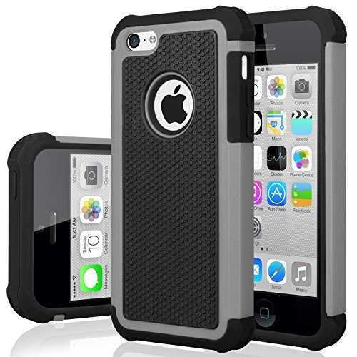 iPhone 5C Case, iPhone 5C Cover, Jeylly Shock Absorbing Hard Plastic Outer...