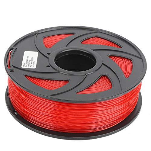 Filamento de impresora 3D, filamento de PLA, rojo para material de impresión Juguetes Impresora 3D Decoración del hogar