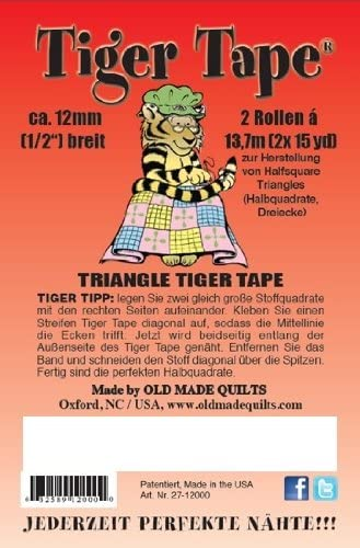 Tiger Choice Ranking TOP6 Tape 1 2 inch guide perfect half for square triangles 2-pk