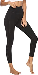 High Waist Yoga Pants with 2 Pockets - Fashion Safety Night Reflector Workout Leggings for Women