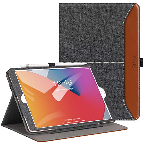 Ztotops Case for iPad 10.2 2020/2019 (iPad 8th/7th Generation), Premium Leather Business Case,Multiple Angle, iPad 10.2 Inch 2020/2019, Demin Black