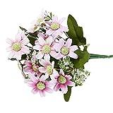 Chytaii. Flores Ramas Artificiales Decoración Flores Falsas Artificiales Interior Exterior Colgando Macetero Cementerio De La Boda Decoración Jarrones