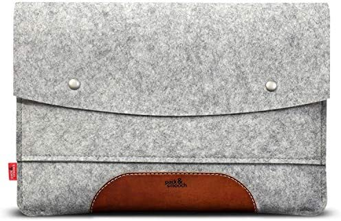Pack Smooch Case Sleeve for MacBook Air 13 100 Merino Wool Felt and Pure Vegetable Tanned Leather product image