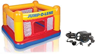 INTEX Play House Jump-O-Lene Inflatable House Bouncer With Electric 220V Air Pump