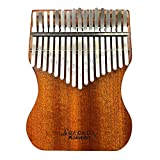 Newest Gecko Mahogany Professional Kalimba 17 keys High Performance Thumb Piano with Bag and Accessories Tuning Hammer, Study Book