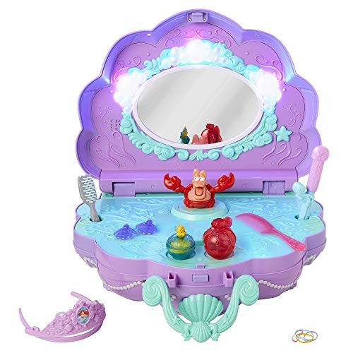 Disney Princess Ariel's Vanity Under The Sea Tabletop Music & Light's Vanity for Girls Ages 3+