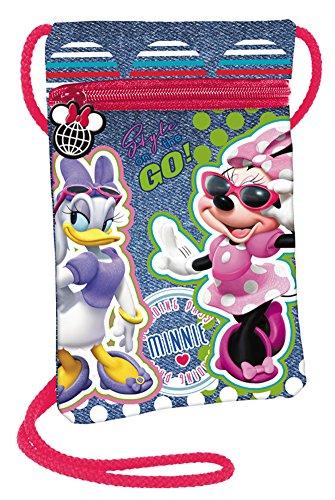 Disney Minnie Maus Daisy Kinder Geldbeutel Brustbeutel kleine Tasche Portmonnaie Geldbörse Börse