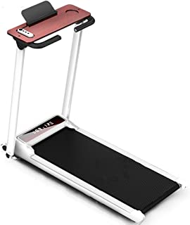 Lightweight Foldable Cardio Fitness Running Machine with Wooden Table, Intelligent with Remote Control Treadmill, Easy to Move and Store